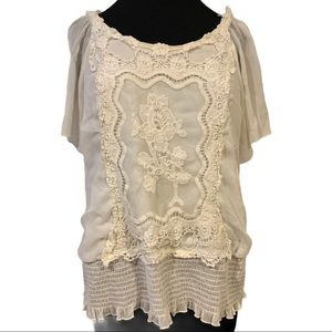 Boho lace top XL